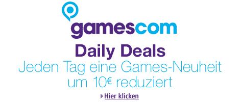Celebrate the games – Spieleneuheiten 10 Euro billiger (Grafik: Amazon, Logo: Gamescom)