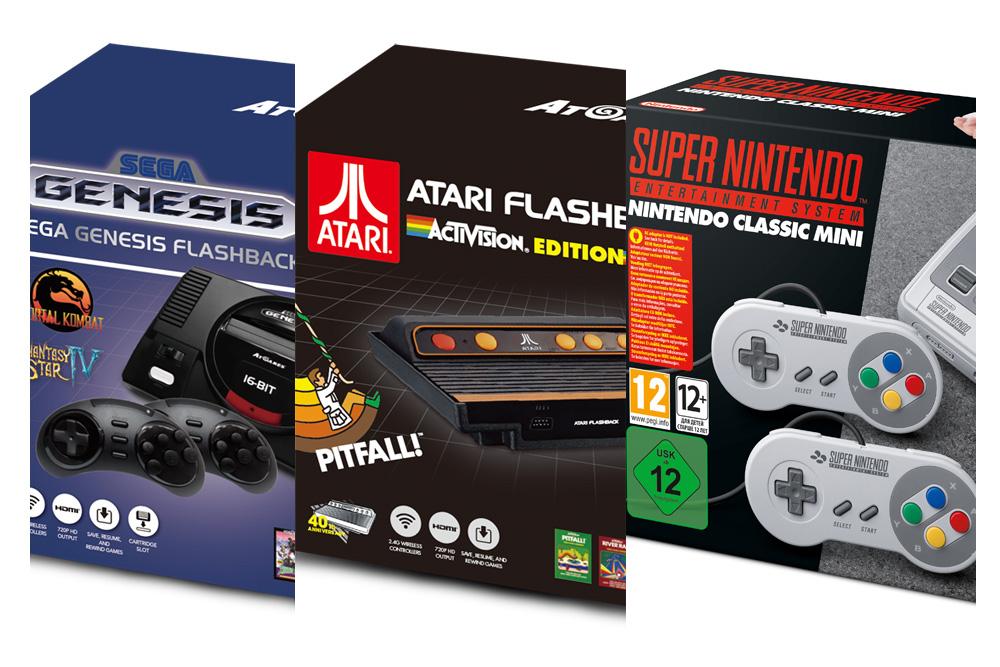 Diese neuen Retro-Konsolen gibt es von Nintendo, Atari und Sega 2017 zu kaufen
