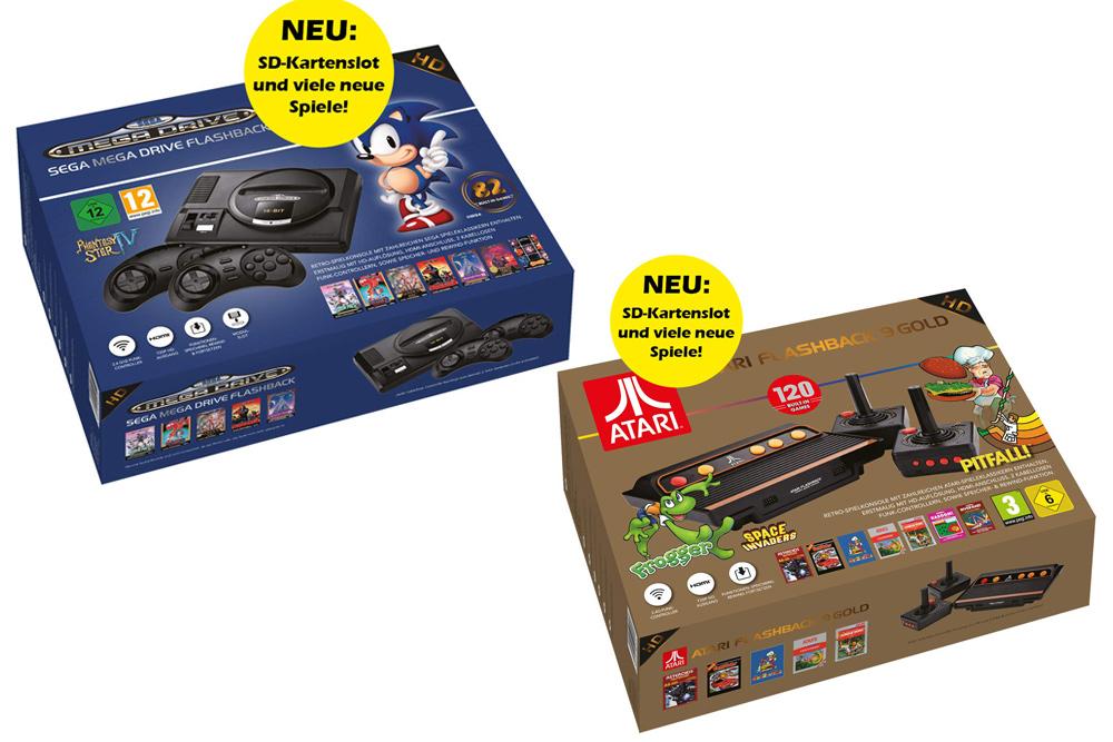 Jetzt erhältlich: Sega Mega Drive Flashback HD (2019) und Atari Flashback 9 Gold HD