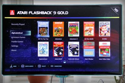 Have you played Atari today? Der Startbildschirm Atari Flashback 9 Gold HD (Foto: Powerkonsolen.de)