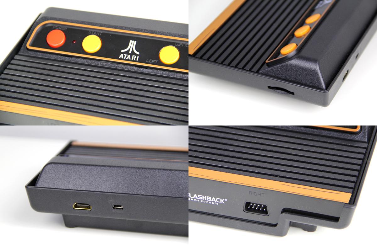 Alle Anschlüsse des neuen Atari Flashback 9 Gold HD - 2019er Edition (Foto: Powerkonsolen.de)