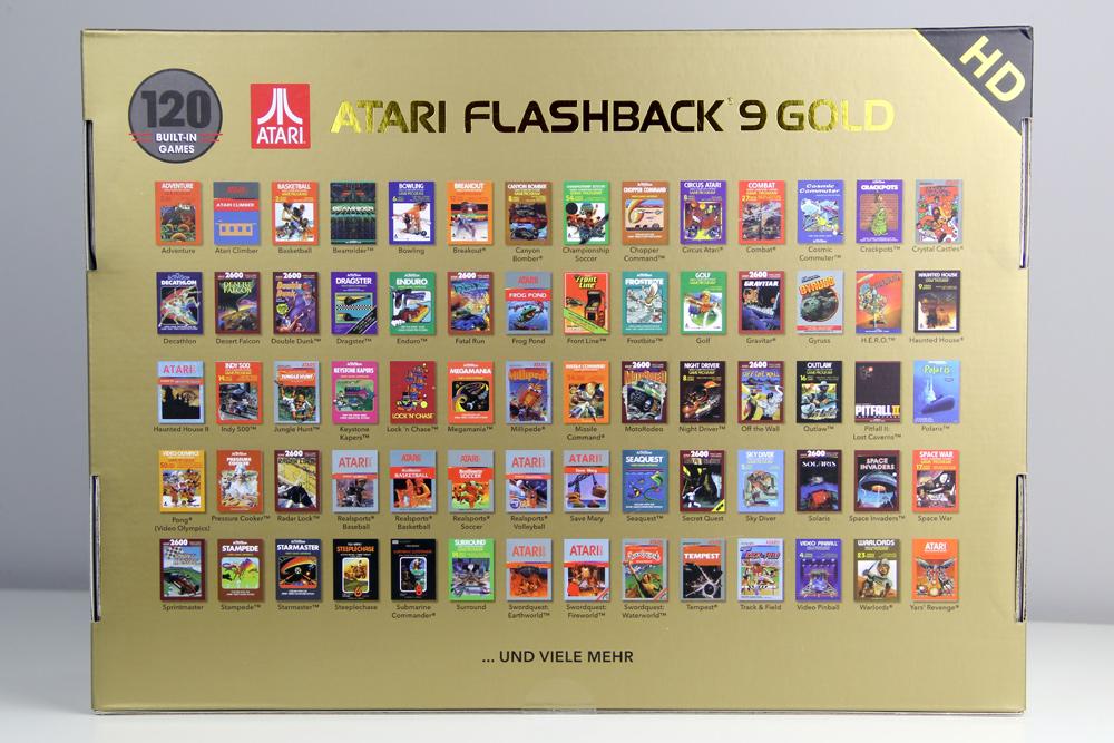 Atari Flashback 9 Gold HD (2019): 120 Spiele und etliche Klassiker sind mit dabei (Foto: Powerkonsolen.de)