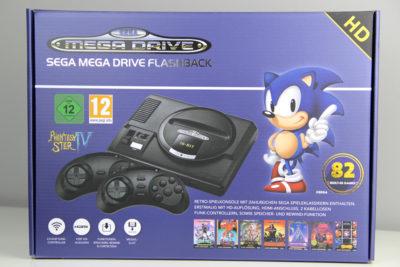 Die Verpackung ist identisch geblieben: Sega Mega Drive Flashback HD (2019 Edition) (Foto: Powerkonsolen.de)
