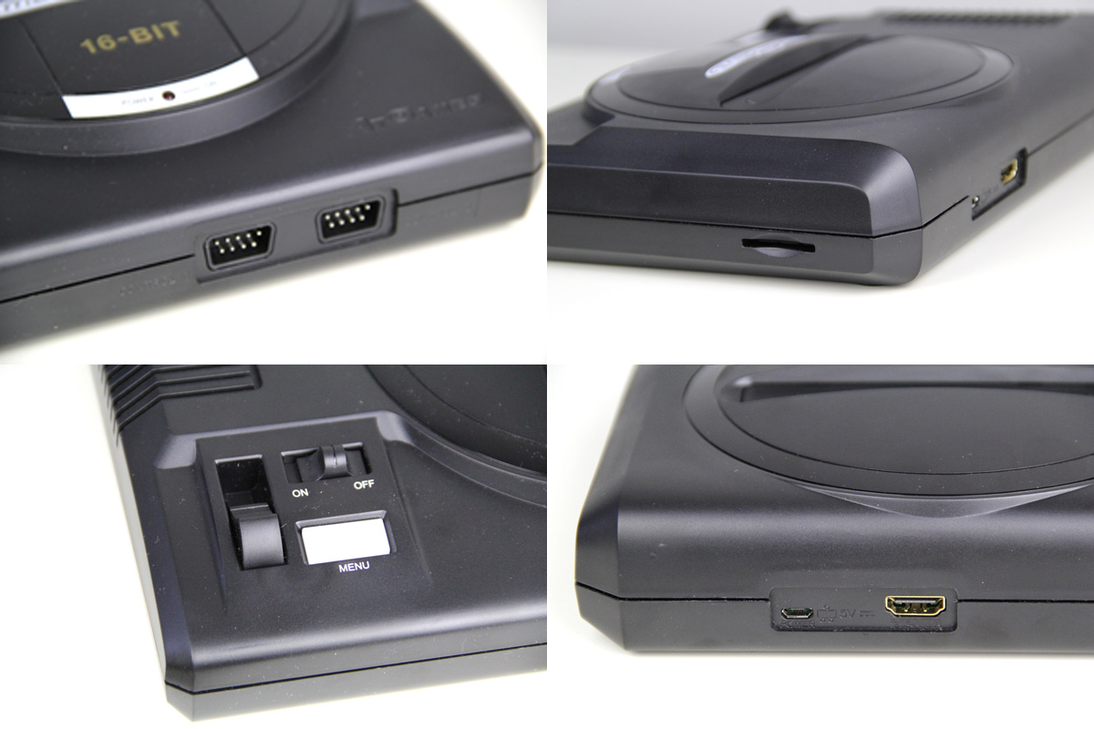 Alle Anschlüsse des neuen Sega Mega Drive Flashback HD - 2019 Edition (Foto: Powerkonsolen.de)
