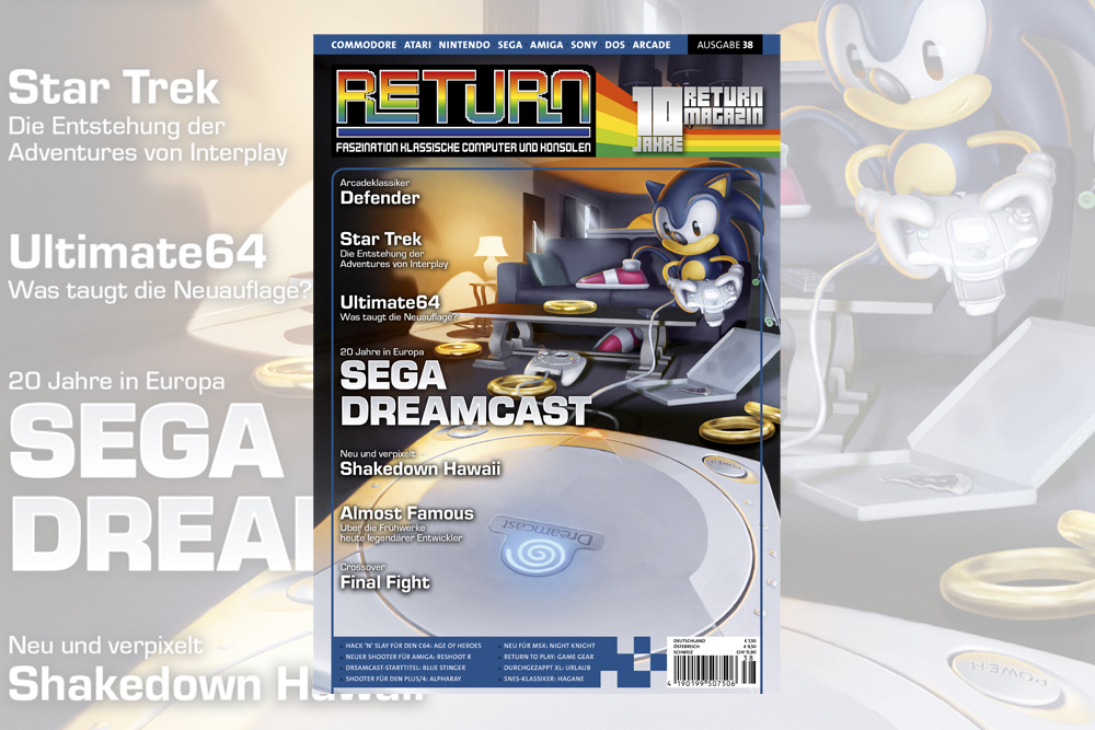 Retro-Magazin RETURN Ausgabe 38 (2019) jetzt erhältlich
