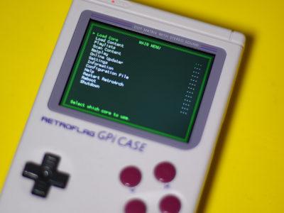 Das GPi Case arbeitet mit Retroarch flott und unkompliziert. Hier installiert: Lakka.