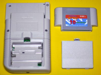 Die Rückseite des GPi Case von Retroflag: Modul mit integriertem Raspberry Pi Zero und Batteriefach.